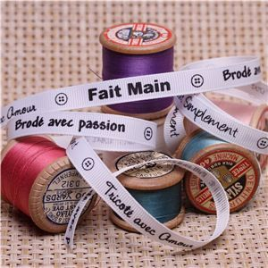 Sew Ribbons - 10mm Fait Main White